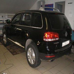 Ремонт вмятины левой двери Volkswagen без покраски: после