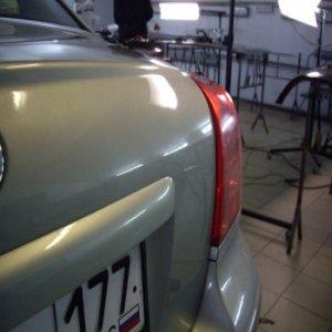 Ремонт крышки багажника Toyota: после